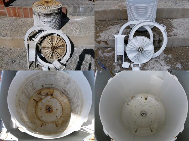 Máy giặt sau khi được vệ sinh